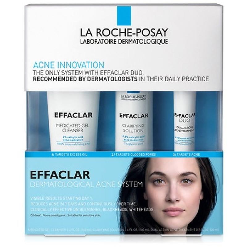 La Roche-Posay Effaclar Dermatological Acne Treatment System for Face Oil Free 1.0 ea