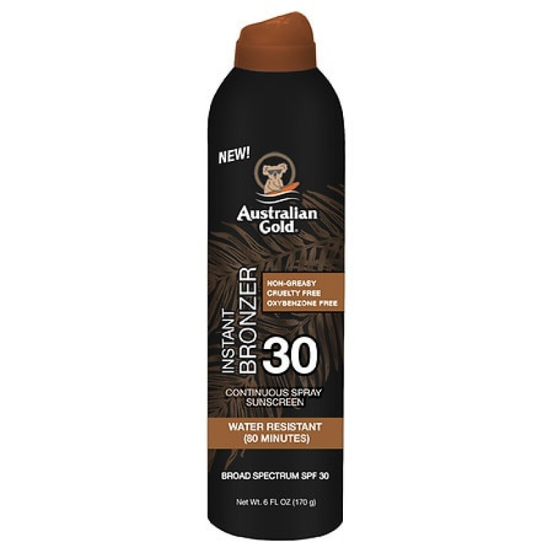 SPF 30 Continuous Spray Sunscreen with Instant Bronzer 6.0 fl oz