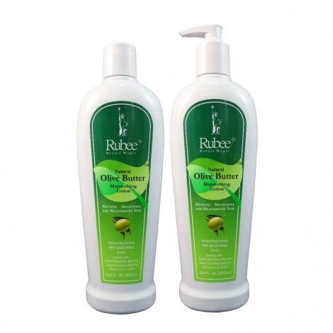 Rubee Natural Olive Butter Moisturizing Lotion 16 Oz Pack